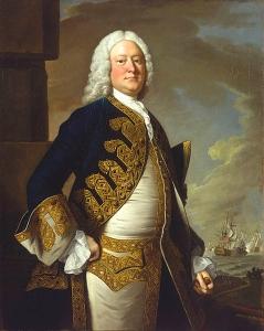 El Almirante John-Byng por el pintor Thomas Hudson