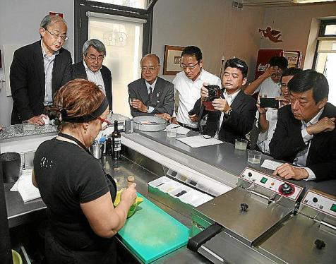 japoneses en Mahon